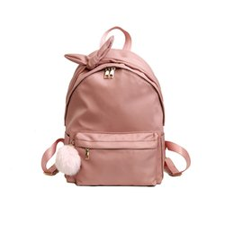 Hair fasHion boy Hot online shopping - 2018 Hot Sale Women s Bag Backpack Student Boy Bag Girl Backpack Casual Hair Ball Solid Color Solid Fashion Travel