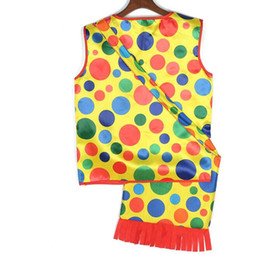 $enCountryForm.capitalKeyWord UK - Halloween Party Makeup Fancy Dress Costumes Colorful Dot Clown Vest Backpack mardi gras carnival Cosplay Performance Wear Tops Clothes bags
