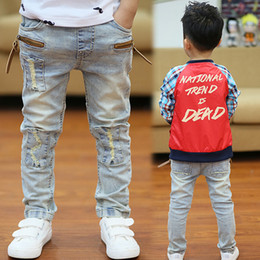 leggings for boys Australia - Kids Pants Big Boys Stretch Joker Jeans 2019 Spring Children Pencil Leggings Autumn Denim Clothes For 3 To 14 Years Male Child Y19051504