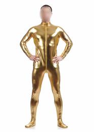 $enCountryForm.capitalKeyWord Australia - zentai Ensnovo Men Nylon Lycra Spandex Black Shiny Metallic Tights Headless Zentai Suit Full Body Unitard Custom Skin Bodysuit