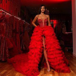 Black long v off shoulder dresses online shopping - 2019 Red Mermaid Evening Dresses Sleeveless V Neck Sequined Black Girls Prom Dress Formal Evening Wear Gowns robes de soirée