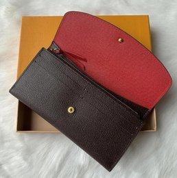 Högkvalitativ kvinna plånbok kvinnor handväska ursprungliga låda plånböcker blomma serienummer datum kod mode