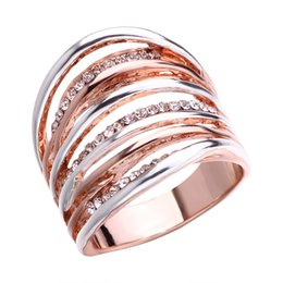 e4b5e5464 new products first European and American fashion multi-line two-color ring  jewelry foreign trade ebay bestseller