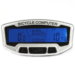 Computer Backlight UK - Multifunctional Wired Bicycle Computer Water Resistant Cycling Odometer Speedometer Stopwatch LCD Backlight with mounting accessories