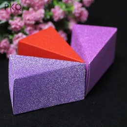 wedding cake small boxes NZ - 100pcs Small Wedding Candy Box Glitter Wedding Party Favors Gifts Bag Creative Cake Box Colored Party