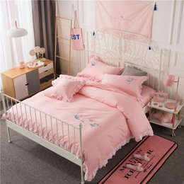 $enCountryForm.capitalKeyWord Canada - 100%Cotton Pink Twin Bedding Set Queen size Bed set Duvet cover Fitted sheet Girls Boys Bedsheet parrure de lit ropa de cama