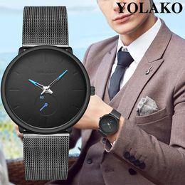 $enCountryForm.capitalKeyWord NZ - Fashion Mens Watches Top Brand Luxury Quartz Watch Men Casual Slim Mesh Steel Waterproof Sport Watch Relogio Masculino New A40