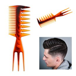 Style Hair Cuts Australia - Multi-function Women Three-sided Fish Comb Aluminum Cutting Comb Hair Hairdressing Barbers Salon Anti-static Styling Combs