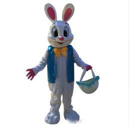 $enCountryForm.capitalKeyWord UK - Halloween Easter bunny Mascot Costume High Quality Cartoon Blue vest Rabbit Anime theme character Christmas Carnival Fancy Costumes