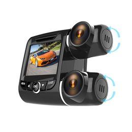 $enCountryForm.capitalKeyWord Australia - Dual Lens Auto Car DVR 360 Degree Panoramic Video Camera Recorder Novatek 96655 Dashcam Full HD 1080P Dash Cam Night Vision