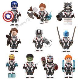 Marvel Iron Man Figure Australia - Marvel building blocks Sets the Avengers Endgame Iron Man Captain America Black Widow Thor Hulk Mini Super Hero Superhero Figures Kid Toys