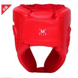 $enCountryForm.capitalKeyWord Australia - Wholesale- Style Men Women Fight Head Guard Sparring Head Protection Training Sanda Muay Thai Boxeo Taekwondo Boxing Helmets Headgears Gear