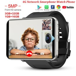 DM100 4G LTE Smart Watch Phone Android 7.1 3GB 32GB 5MP MT6739 2700mAh Bluetooth Fashionable Smartwatch Men PK AEKU I5 Plus DM99 on Sale