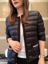 Wholesale classic leather jacket styles for sale – winter women Classic style Hot fashion england short thin down padded coat Slim warm high quality women jacket brand jacket A
