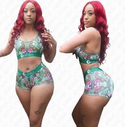 Wholesale womens tankinis online – Womens Summer Swimsuit Outfits Casual Bar shorts Pieces Tankini Sets Fashion Ladies Beach Bikini Swimwear D51902
