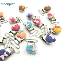 mint tie Australia - designer baby pacifiers 10pcs SMILE mouse head shaped Baby Pacifier Clips new design bow tie paci holder mint color Assorted color