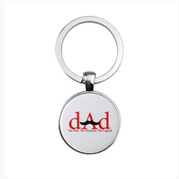 $enCountryForm.capitalKeyWord NZ - Creative diy moustache DAD keychain Dome glass alloy custom keychain Wholesale custom father gift 8 styles optional