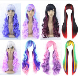 $enCountryForm.capitalKeyWord Australia - Female Gradual Colored Cost Wig, Colour Long Curly Hair, Long Straight Hair, 70CM Stage Performance Projects