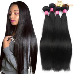 human hair weave natural color 2019 - 8A Mink Brazilian Straight Hair Weave 100% Unprocessed Brazilian Virgin Hair Straight Peruvian Malaysian Indian Human Ha