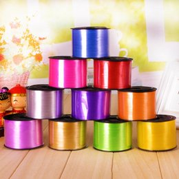 string 5mm Australia - Home & Garden 1 Roll Foil Balloon Ribbon Balloon Strings 5MM X 100 Yards Gifts Packing Crafts Foil Curling Ribbon Rope DIY