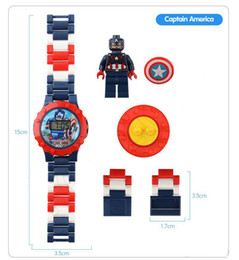 $enCountryForm.capitalKeyWord NZ - Super hero Watches DC Marvel Avengers Action Figure Toys Cartoon Building Block Watch for kids toys Christmas Gift With Box Package 65