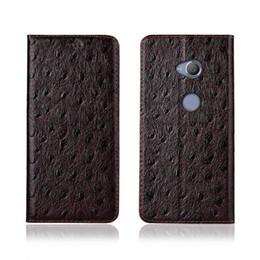 Sony Xperia Ultra Case Australia - Ostrich Texture Phone Case For Sony Xperia XA2 Ultra Genuine Cowhide Leather Flip Card Phone Case For Sony Xperia XA2 Ultra Case