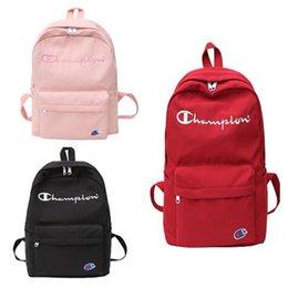 $enCountryForm.capitalKeyWord Australia - Champions Letter Shoulder Bag with Side Pocket Men Women Luxury Designer Backpack Waterproof Nylon Schoolbag Travel Duffle Bag Totes C7403