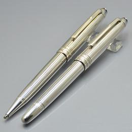 Sale Pens Australia - Hot sale Luxury Meisterstcek 163 Silver Rollerball pen Ballpoint pen stationery School office supply with MB Brands Serial Number XY2006108