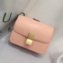 $enCountryForm.capitalKeyWord Australia - Charm2019 Leather Genuine Bean Curd Box Small Square Single Shoulder Messenger Concise Airline Stewardess Woman Package Tide