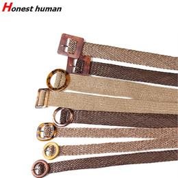 $enCountryForm.capitalKeyWord Australia - Ladies PP Straw Wide Belts For Women Dress Braided Elastic Belt Female Vintage Designer Plastic Wooden Buckle Casual Woven Strap