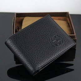 Style Men Top Korean Australia - brand Genuine Leather Business Wallet Top Quality Classic Designer Men ID Card Purse for Man 2019 New Arrivals Fashion Case