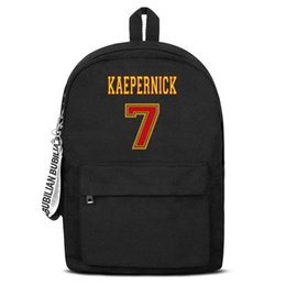 $enCountryForm.capitalKeyWord Australia - Kaepernick 7 Red Gold Free Shipping Women Men Canvas School Student Lightweight Travel Backpack Printing Backpack Designer