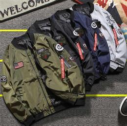 Опт Лучшие продажи весной и осенью тонкая мужская куртка ветровка куртка бейсбол куртка Air Force Flying костюм мужской костюм N02