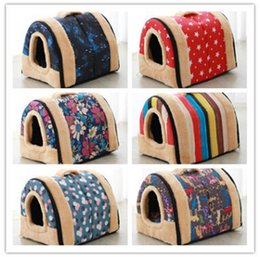 bedding side 2019 - Dog Kennel Portable Pet House Four Seasons Universal Removable Dog Houses Double Side Zipper Cartoon Winter Warm Soft Do