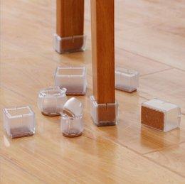 Furniture 18mm Practical 4pcs Transparent Rubber Furniture Table Chair Leg Floor Feet Soft Cap Cover Protector