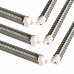 Flash light tube online shopping - Best quality V Shaped ft ft ft ft Cooler Door Led Tubes T8 Integrated Led Tubes SMD2835 Led flash Lights AC V