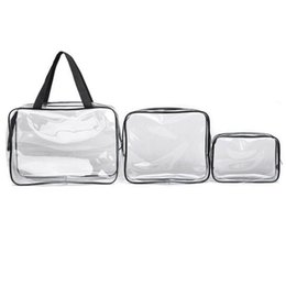 waterproof plastics made Australia - New Cosmetic Bag PVC Clear Transparent Plastic Travel Cosmetic Bag Zipper Make Up Toiletry Waterproof Organizer Fashion