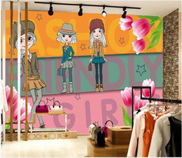 $enCountryForm.capitalKeyWord Australia - WDBH 3d wallpaper custom photo Cute tulip fashion clothing and fashion boutique room home decor 3d wall murals wallpaper for walls 3 d
