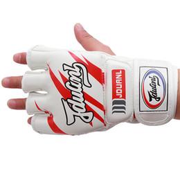 $enCountryForm.capitalKeyWord Australia - Kickboxing Half-Finger Gloves PU Fighting Glove Martial Arts Free Combat Boxing Semi-Gloves Kung Fu Beginner Muay Thai Training Mitt