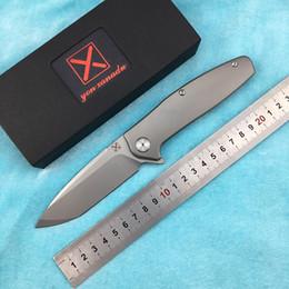 $enCountryForm.capitalKeyWord NZ - X-750 NEW folding knife Ball bearing VG-10 blade Titanium handle camping hunting Outdoor pocket fruit knives EDC tool