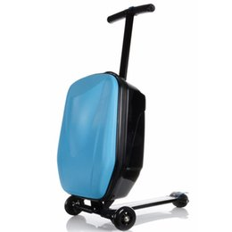 $enCountryForm.capitalKeyWord Australia - KUDUI New Rolling luggage Book Bags Hard-Shell Wheeled Garment Suitcase bag Brand Business Travel child Scooter Trolley school