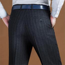 Black Dress Pants Men NZ - ICPANS Black Suit Pant For Men Loose Wool Men Suit Pants Classic Straight Formal Mens Dress Pants Business Size 42 44 2019 New