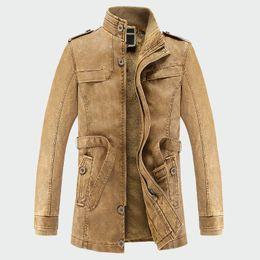 $enCountryForm.capitalKeyWord Australia - Men's Leather Jackets Winter Warm Faux Fleece Plus Thick Warm Coats Windproof Biker Motorcycle Velvet Outerwear L-3XL ML027