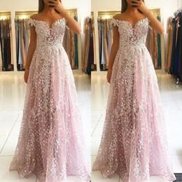 Elegant Mother Bride Dresses Black White Australia - White Lace Pink Plus Size Evening Dresses Elegant Off Shoulder Floor Length Prom Dress Mother of Bride Dress with Sequins Appliques