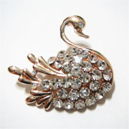 $enCountryForm.capitalKeyWord Australia - Swan Rhinstone Bling Female Pins Outdoor Personality Trendy Girls Brooches High Street Brand Women Clothing Accessories