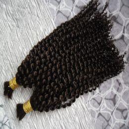 Hair bulking online shopping - 200g Human Braiding Hair Bulk No Attachment Kinky Curly Hair Extension For Braids Pc No Weft Brazilian Human Hair Crochet Braids Bulk