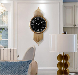 timepiece clocks Australia - Modern light luxury simple wall clock living room decoration atmosphere clock art American luxury timepiece home fashion wall ch