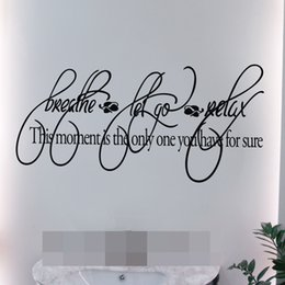 $enCountryForm.capitalKeyWord Australia - Breath Let It go Relax Bathroom Wall Art Quote Stickers Waterproof Vinyl House Decor Sports Decals Fitness Room Vinyl Decals