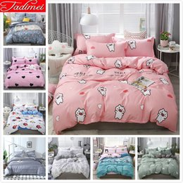 full size kids beds Australia - Adult Kids Child Soft Cotton Bedding Set Single Twin Full Queen King Size Duvet Cover Sheet Pillowcase Bed Linen 150x200 180x220