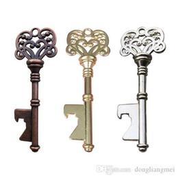 Toptan satış DLM2 altın sıcak Vintage Anahtar Şişe Açacağı Antik Anahtar Metal Bira Açacağı Bronz İskelet Anahtarlık Şişe Açacakları Düğün Favor ücretsiz DHL # Y185